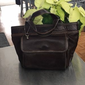 Fossil/ Pebbled Leather/ Satchel/